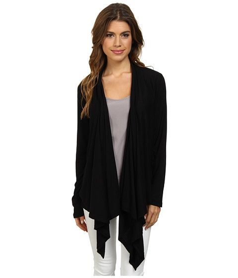 Splendid - Very Light Jersey Wrap Cardigan (Black) Women