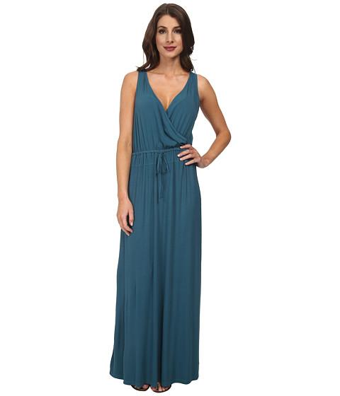 Splendid - Rib Wrap Dress (Marlin) Women's Dress