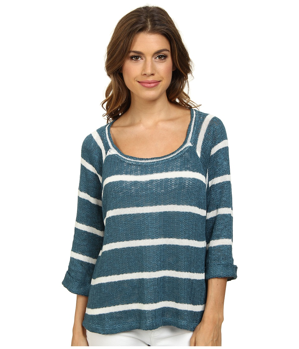 Splendid - Serengeti Stripe Loose Knit Sweater (Marlin) Women's Sweater