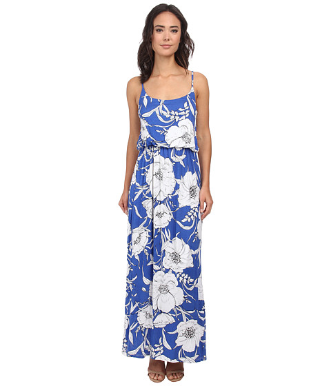 Gabriella Rocha - Floral Maxi Dress (Royal/White Floral) Women's Dress