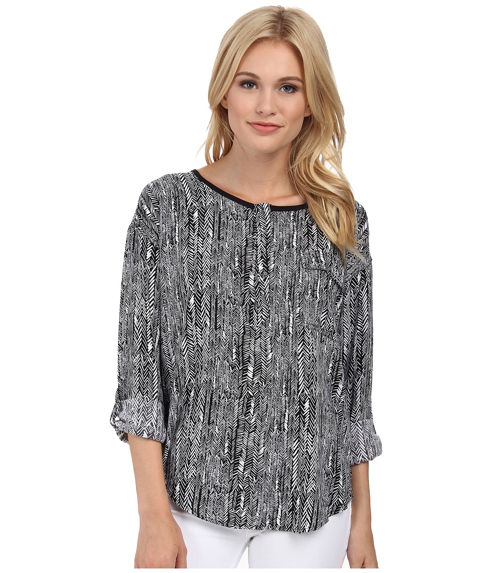 Splendid - Etched Arrowhead Shirt (Black) Women's Clothing
