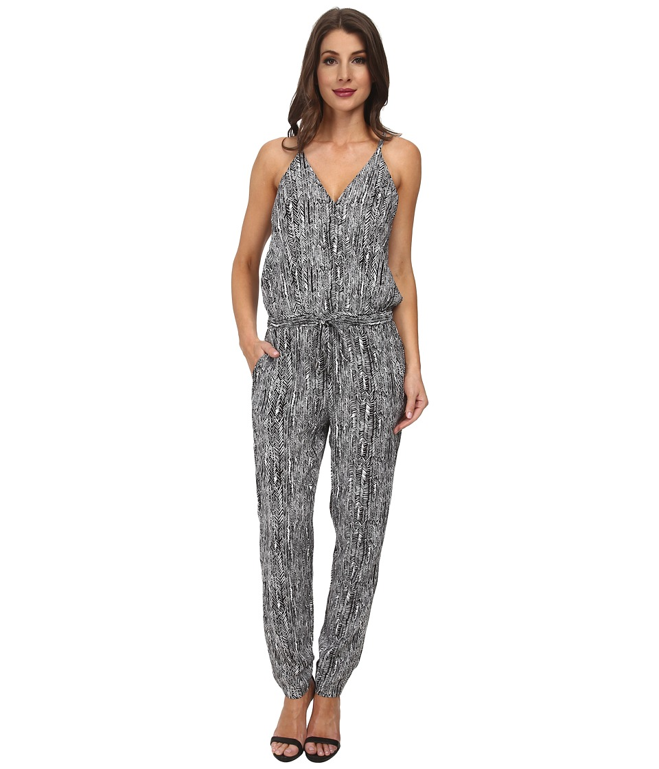 Splendid - Etched Arrowhead Jumpsuit (Black) Women