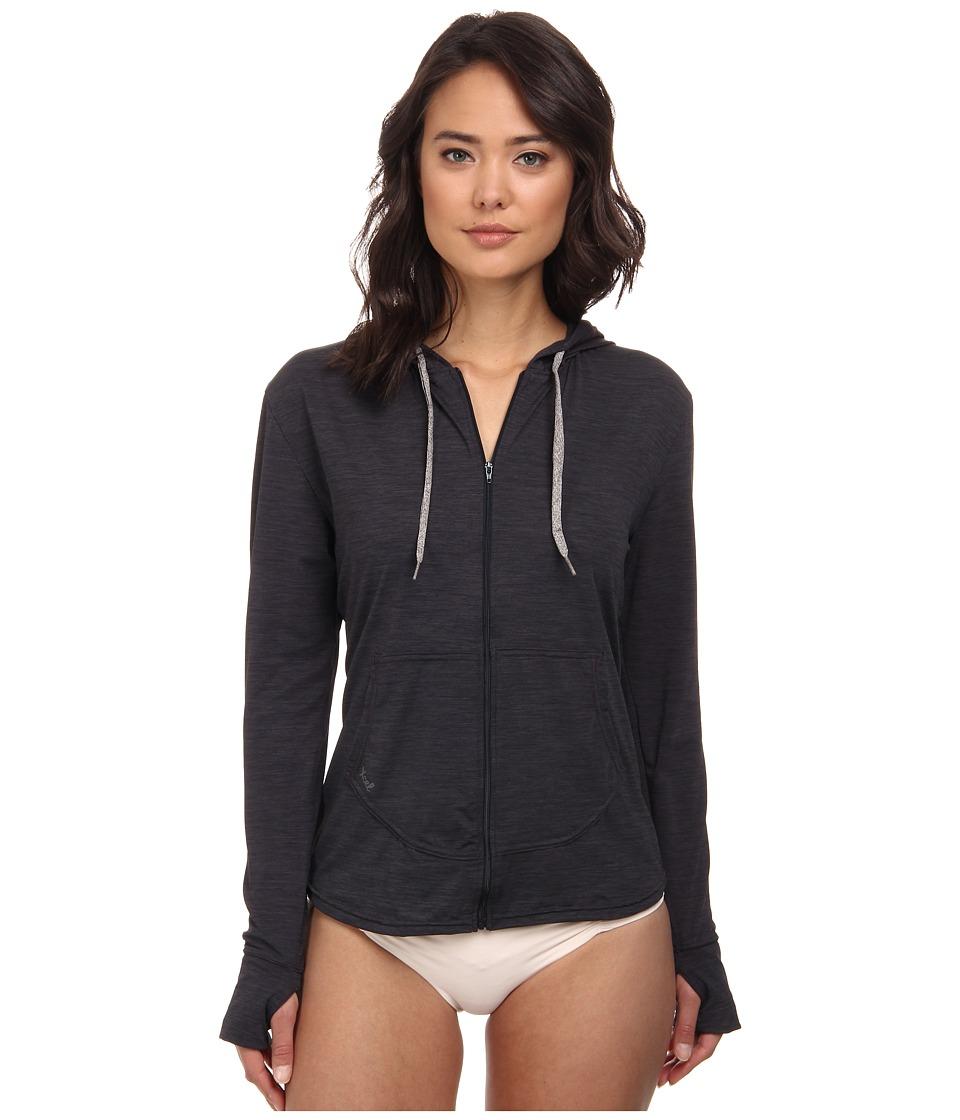 XCEL Wetsuits - Lana 4-Way L/S Front Zip Hoodie (Heather Black) Women's Swimwear