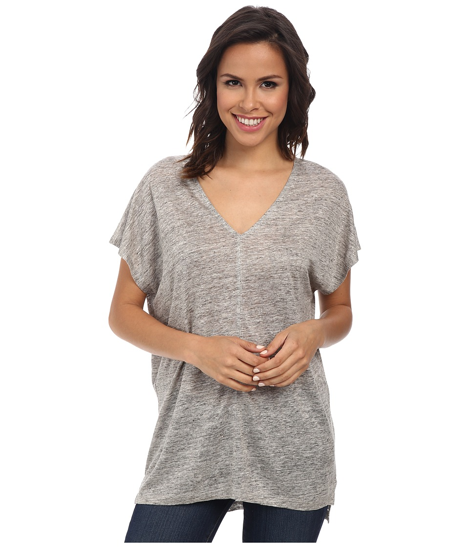 Splendid - Melange Linen Jersey Shirt (Heather Grey) Women's Clothing