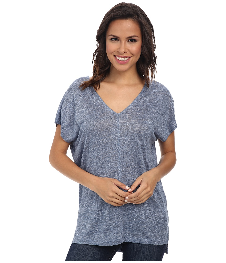 Splendid - Melange Linen Jersey Shirt (Chambray 2) Women's Clothing