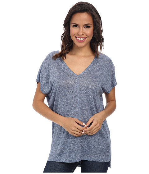 Splendid - Melange Linen Jersey Shirt (Chambray 2) Women