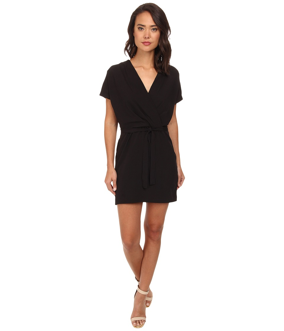 Brigitte Bailey - Mia Wrap Solid Dress (Black) Women's Dress