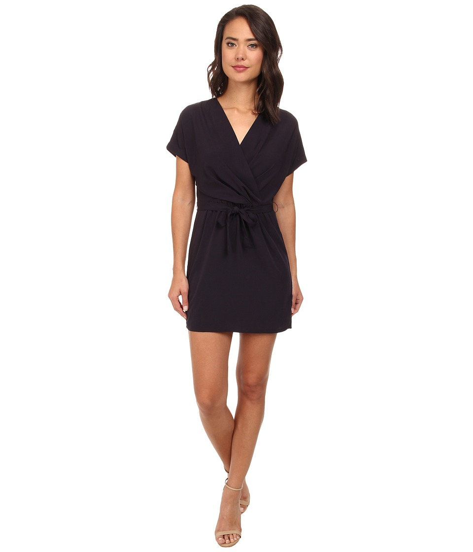 Brigitte Bailey - Mia Wrap Solid Dress (Midnight Navy) Women's Dress