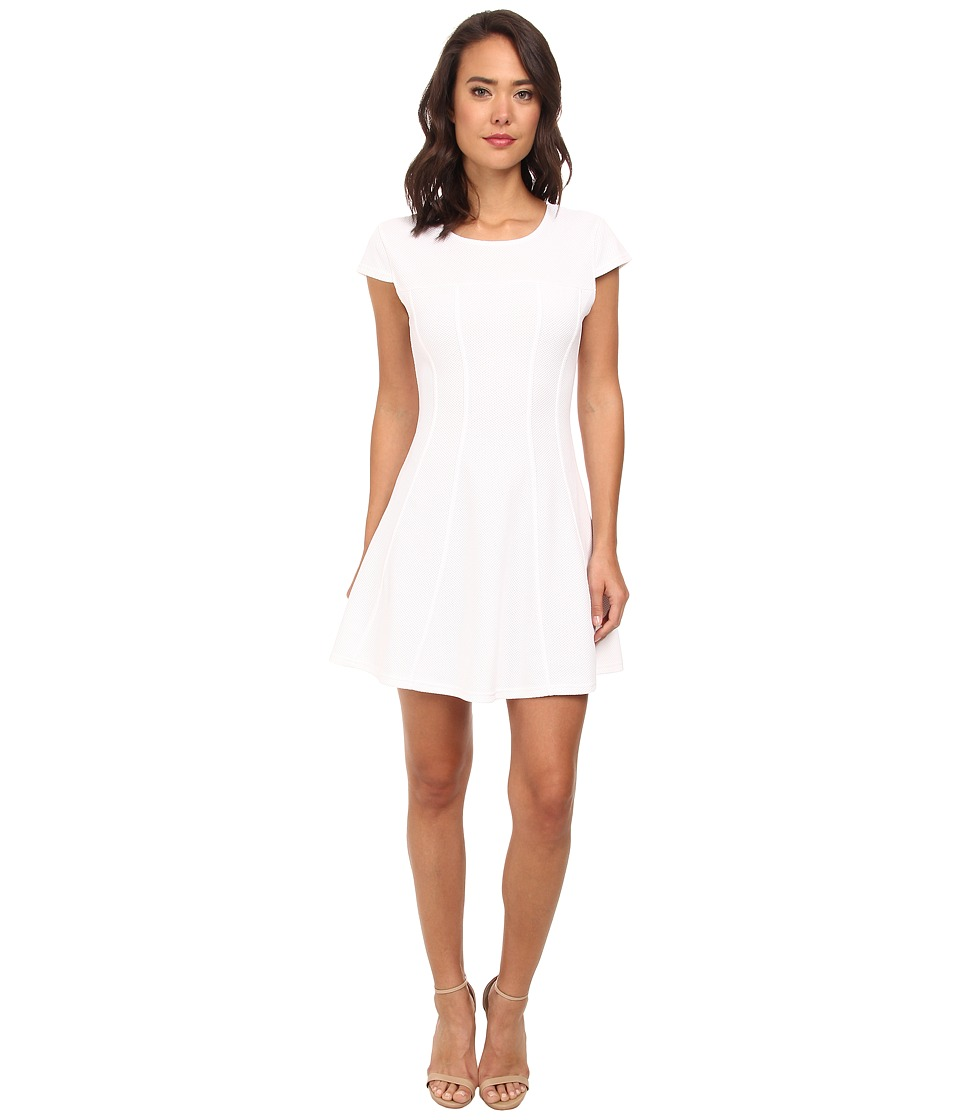 Brigitte Bailey - Cap Sleeved Dress (Ecru) Women's Dress