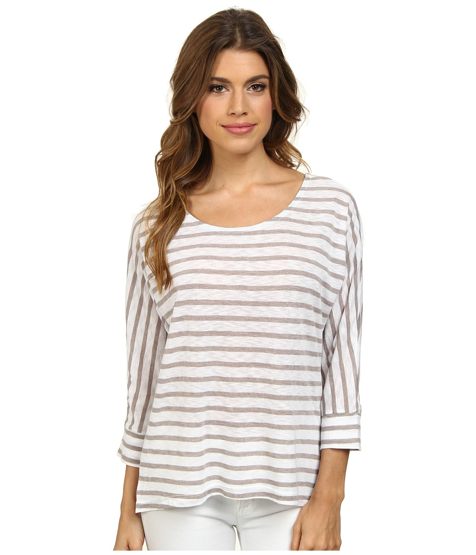 Splendid - Nutmeg Stripe Dolman (White) Women's Clothing