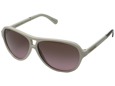 Michael Kors - Wainscott (White Black) Fashion Sunglasses