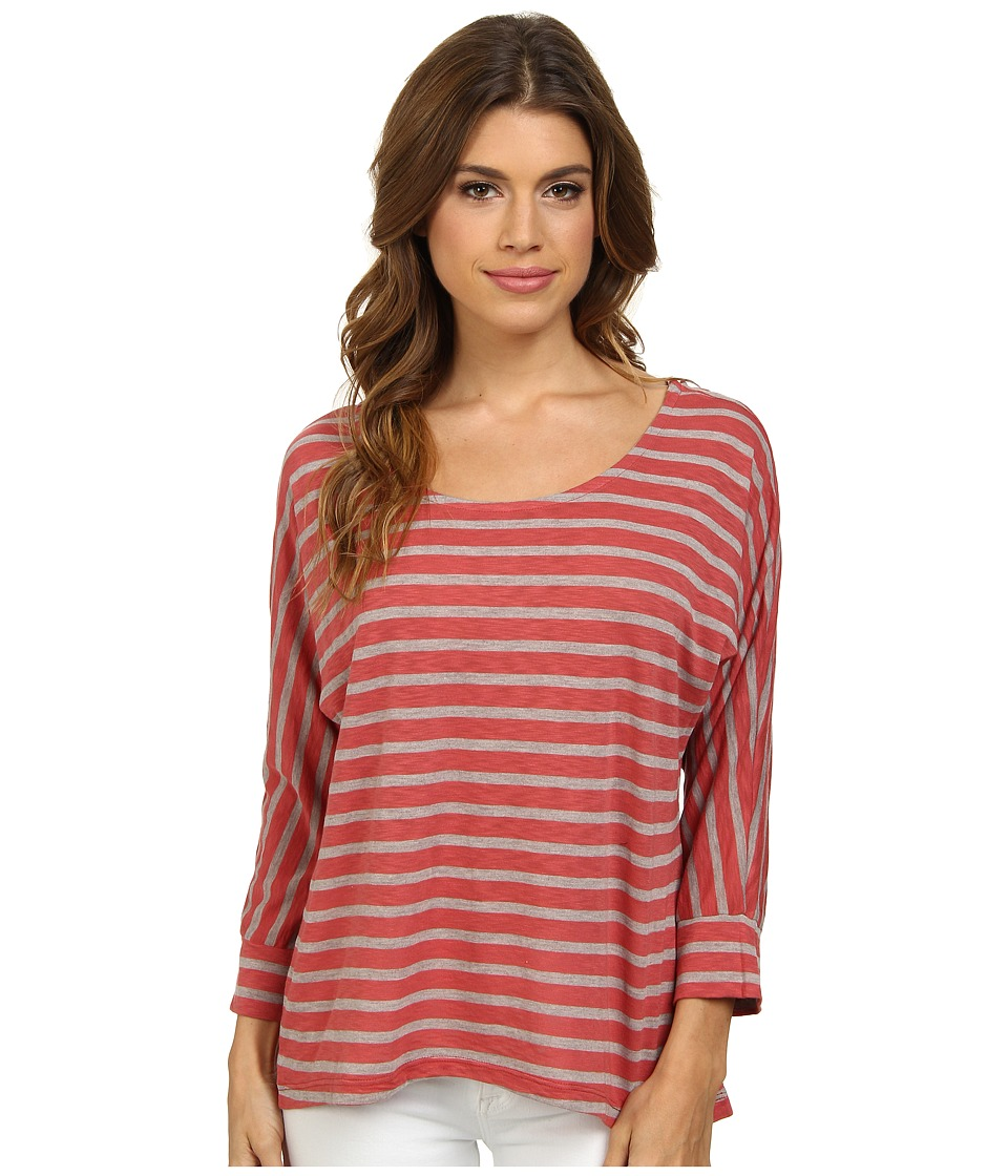 Splendid - Nutmeg Stripe Dolman (Sienna) Women's Clothing