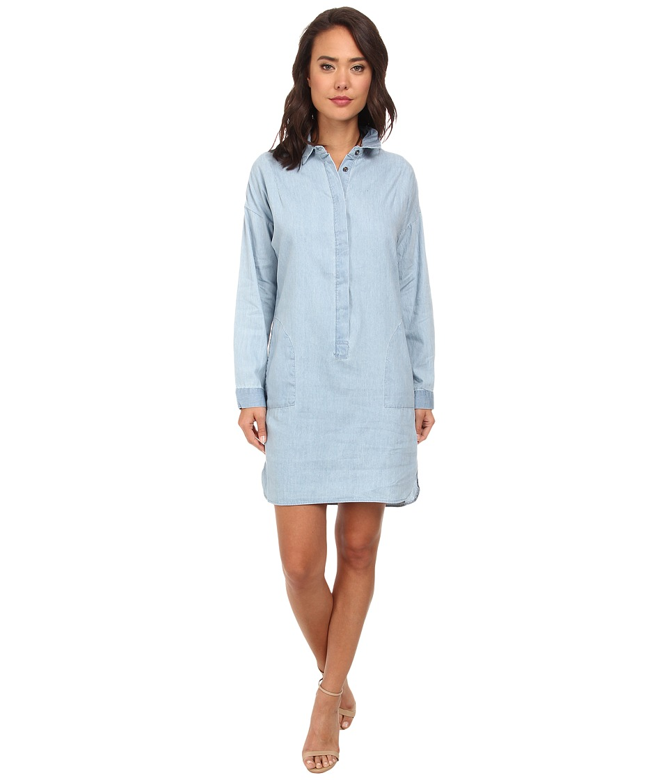 Gabriella Rocha - Basic Long Sleeved Button-Down (Denim) Women's Long Sleeve Button Up