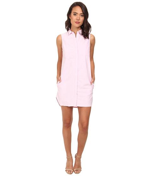 Gabriella Rocha - Basic Sleeveless Button-Down (Pink) Women's Clothing