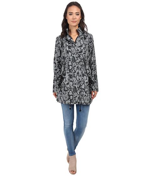 Gabriella Rocha - Snakeskin Printed Rain Coat (Taupe) Women's Coat