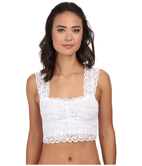 Brigitte Bailey - Lace Bra Top w/ Cap Sleeves (White) Women's Bra