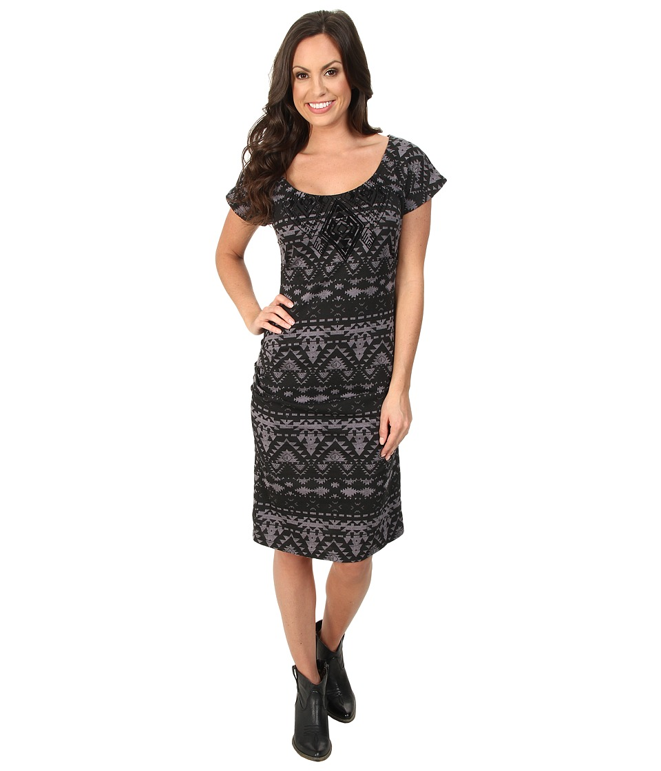 Rock and Roll Cowgirl - Cap Sleeve Dress (Black) Women's Dress