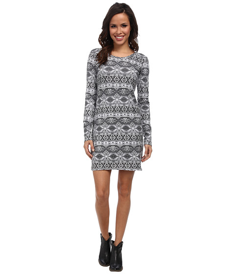 Rock and Roll Cowgirl - L/S Knit Dress (Charcoal) Women's Dress