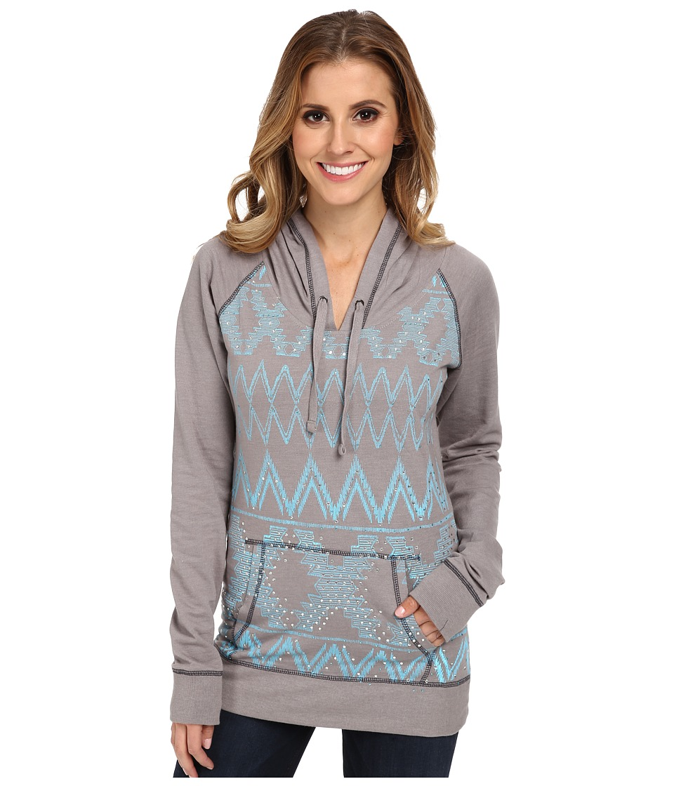 Rock and Roll Cowgirl - L/S Pullover (Steel) Women's Long Sleeve Pullover