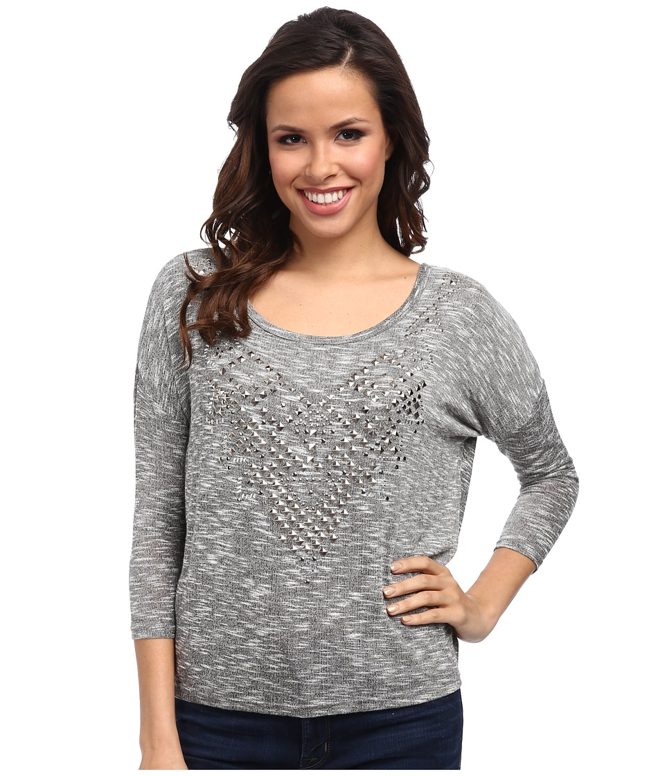Rock and Roll Cowgirl - 3/4 Dolman Sleeve (Charcoal) Women's Long Sleeve Pullover