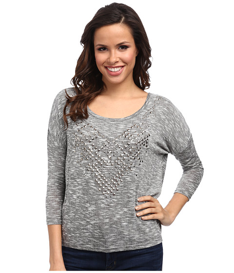 Rock and Roll Cowgirl - 3/4 Dolman Sleeve (Charcoal) Women