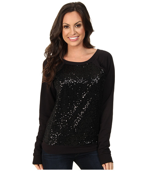 Rock and Roll Cowgirl - L/S Knit (Black) Women's Sweater