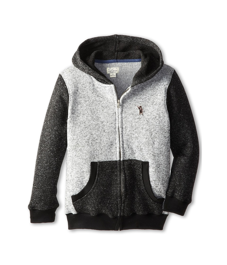Lucky Brand Kids - Hashtag Hoodie (Big Kids) (Heather Lite) Boy