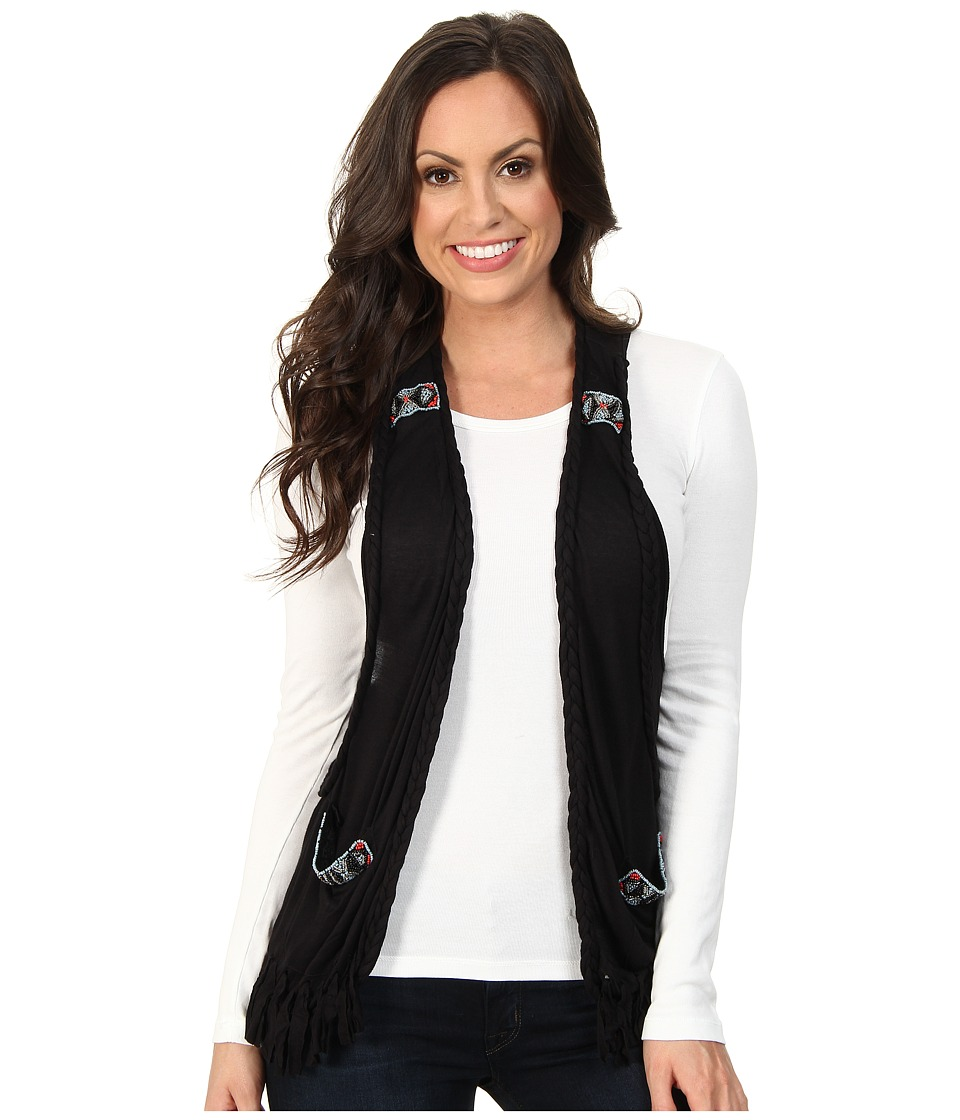 Rock and Roll Cowgirl - Vest with Beads (Black) Women