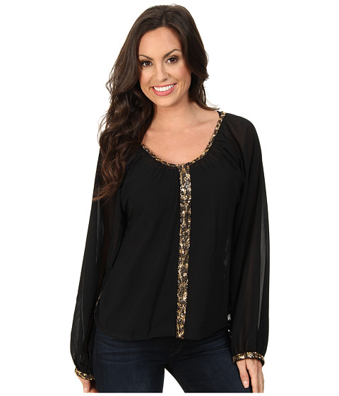 Rock and Roll Cowgirl - L/S Blouse (Black) Women