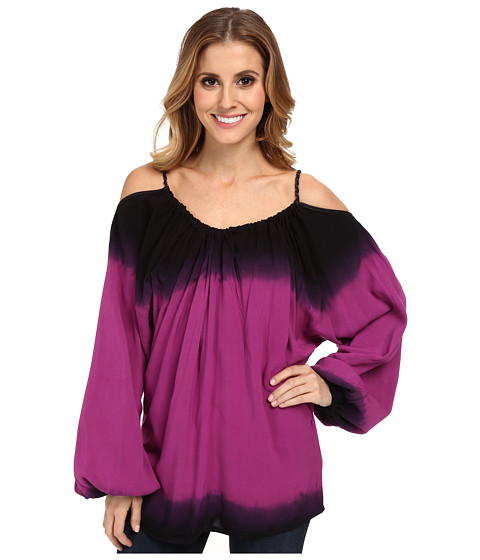 Rock and Roll Cowgirl - Cold Shoulder Top (Fuchsia) Women