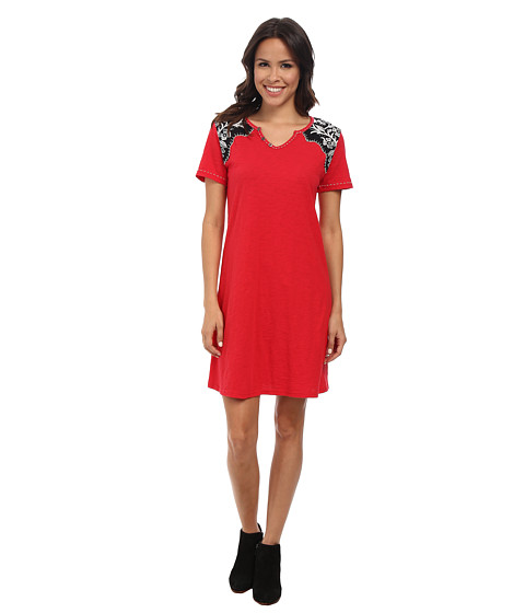 Double D Ranchwear - Tejas Longhorn Dress (Prairie Poppy) Women's Dress