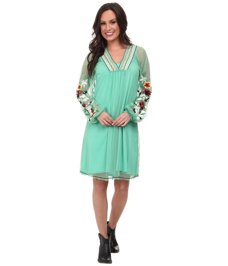Double D Ranchwear - Keep On The Sunny Side Dress (Tenderfoot Teal) Women's Dress