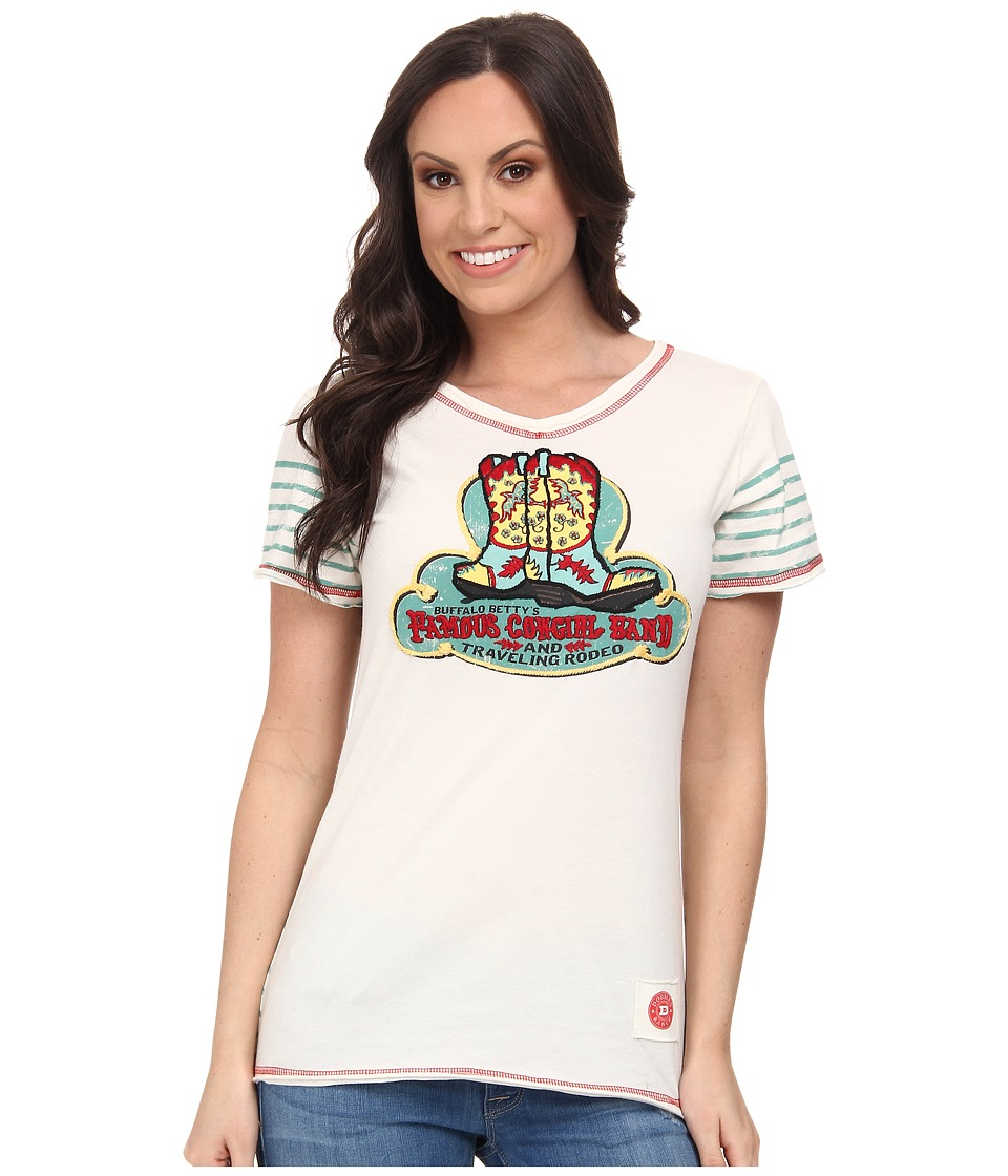 Double D Ranchwear - Famous Cowgirl Band Tee (String) Women's T Shirt