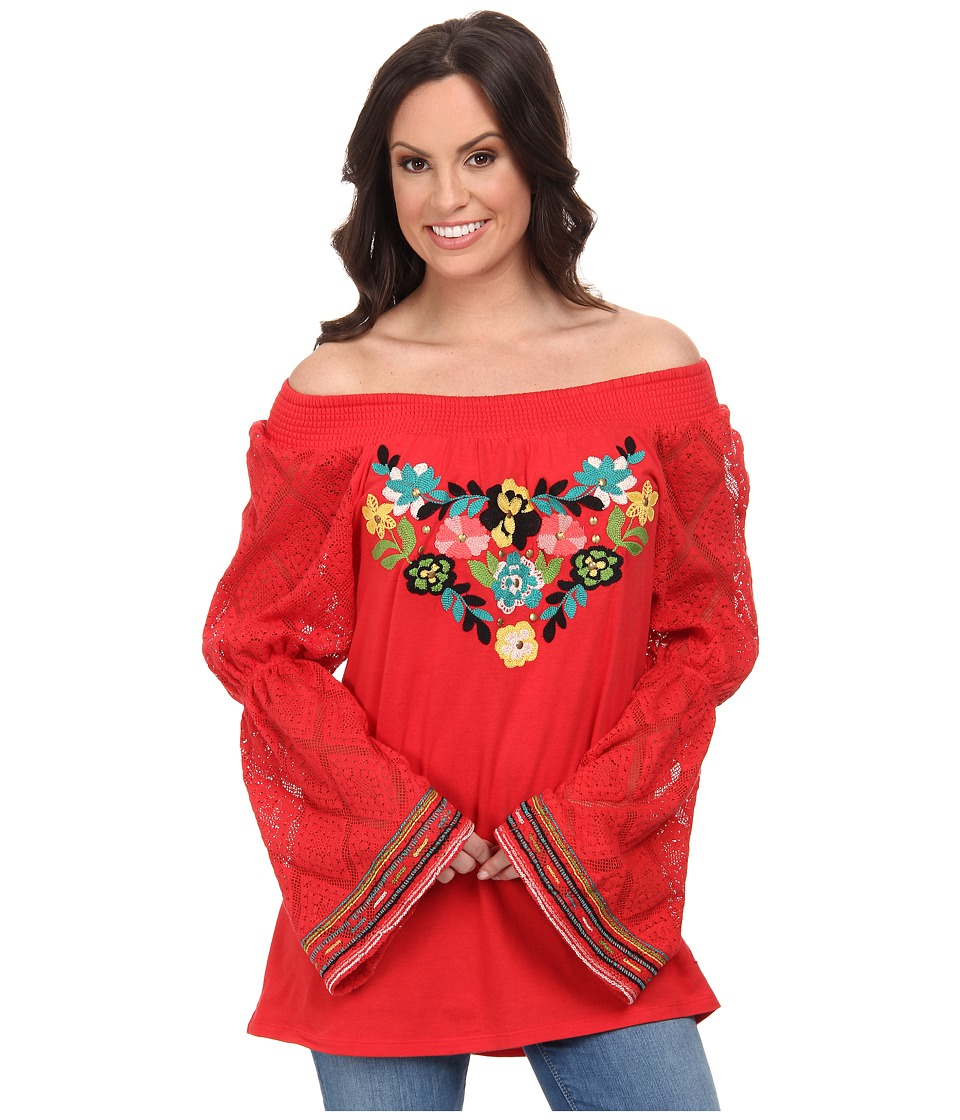 Double D Ranchwear - Rope The Wind Top (Prairie Poppy) Women