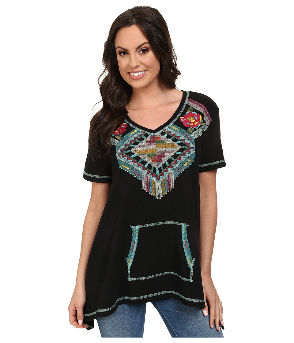 Double D Ranchwear - Trail of Broken Hearts Top (Black) Women's Clothing