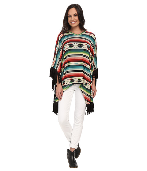 Double D Ranchwear - Little Flower Serape Poncho (Multi) Women's Blouse