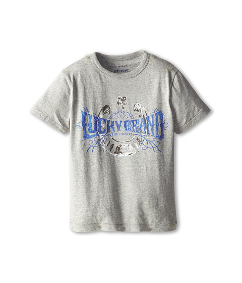 Lucky Brand Kids - Lucky Me Tee (Little Kids/Big Kids) (Heather Lite) Boy