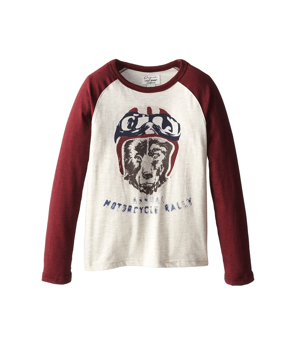 Lucky Brand Kids - Moto Rally Bear Tee (Little Kids/Big Kids) (Turtledove Heather) Boy's T Shirt