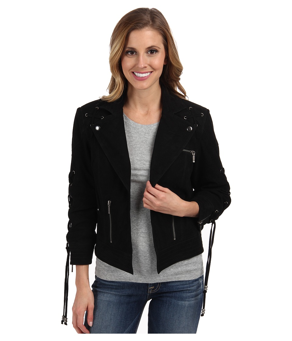 Double D Ranchwear - Directions Biker Jacket (Black) Women's Coat