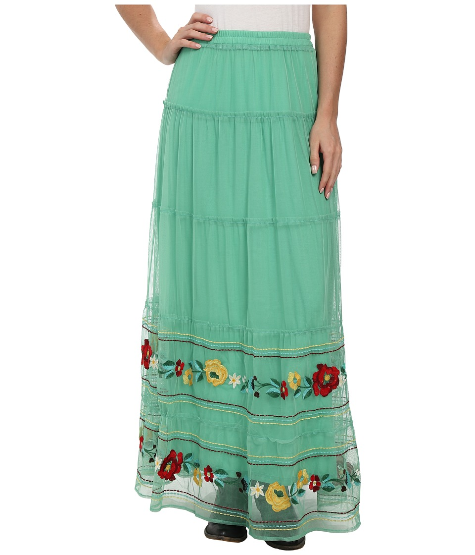 Double D Ranchwear - Carleen Long Skirt (Tenderfoot Teal) Women's Skirt