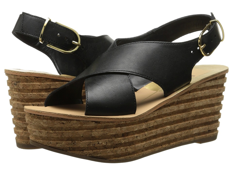Dolce Vita - Maize (Black Leather) Women's Wedge Shoes