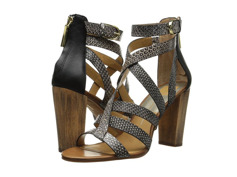 Dolce Vita - Nolin (Black/White Snake Leather) High Heels