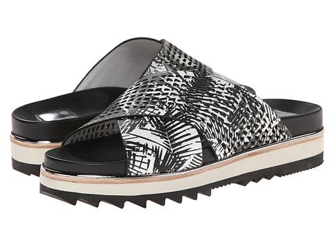 Dolce Vita - Shaye (Black/White Palm Print Leather) Women's Sandals
