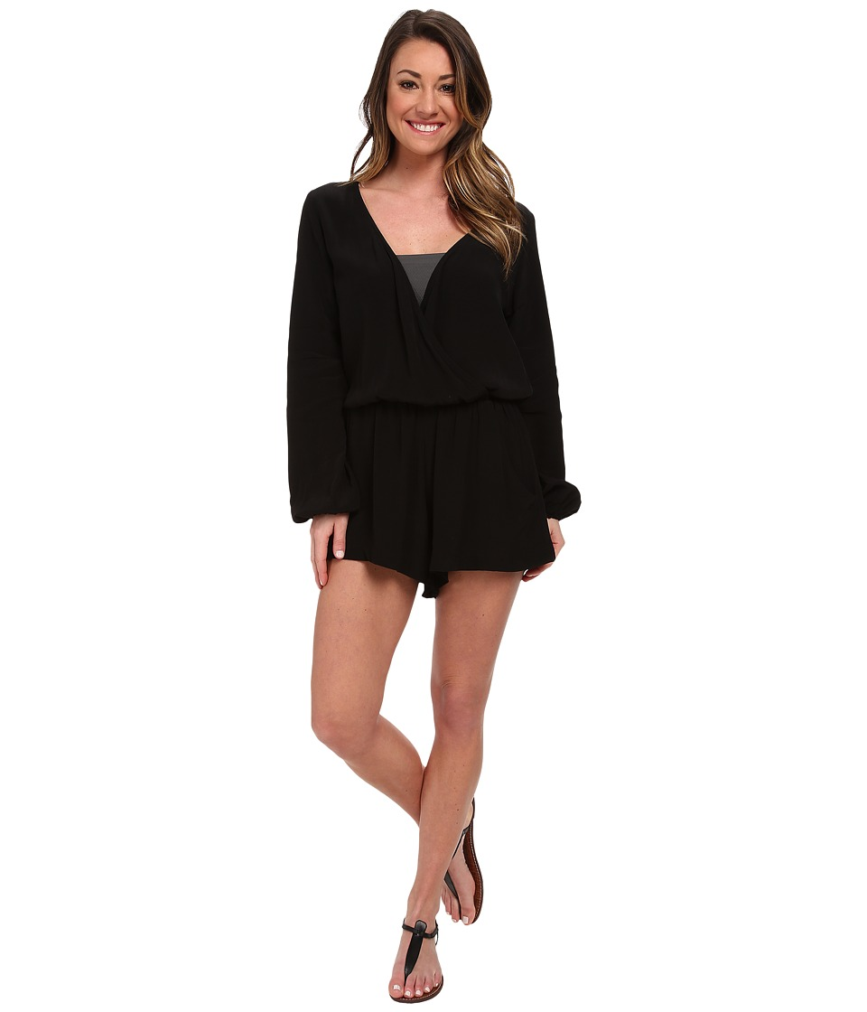 Lucy Love - Savannah Romper (Black) Women