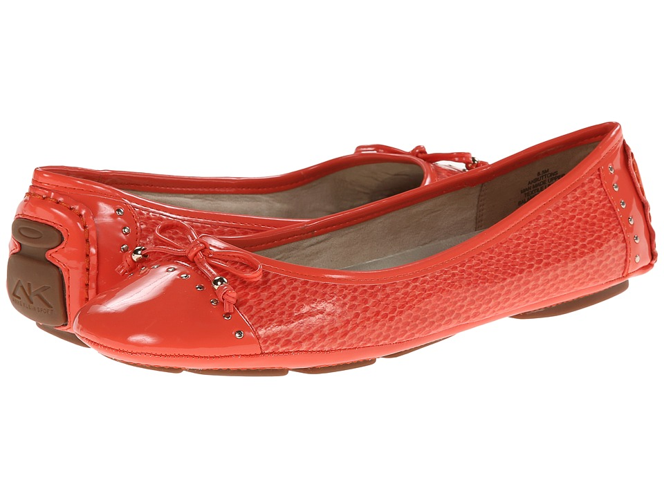 Anne Klein - Buttons (Firebrick Reptile) Women's Flat Shoes