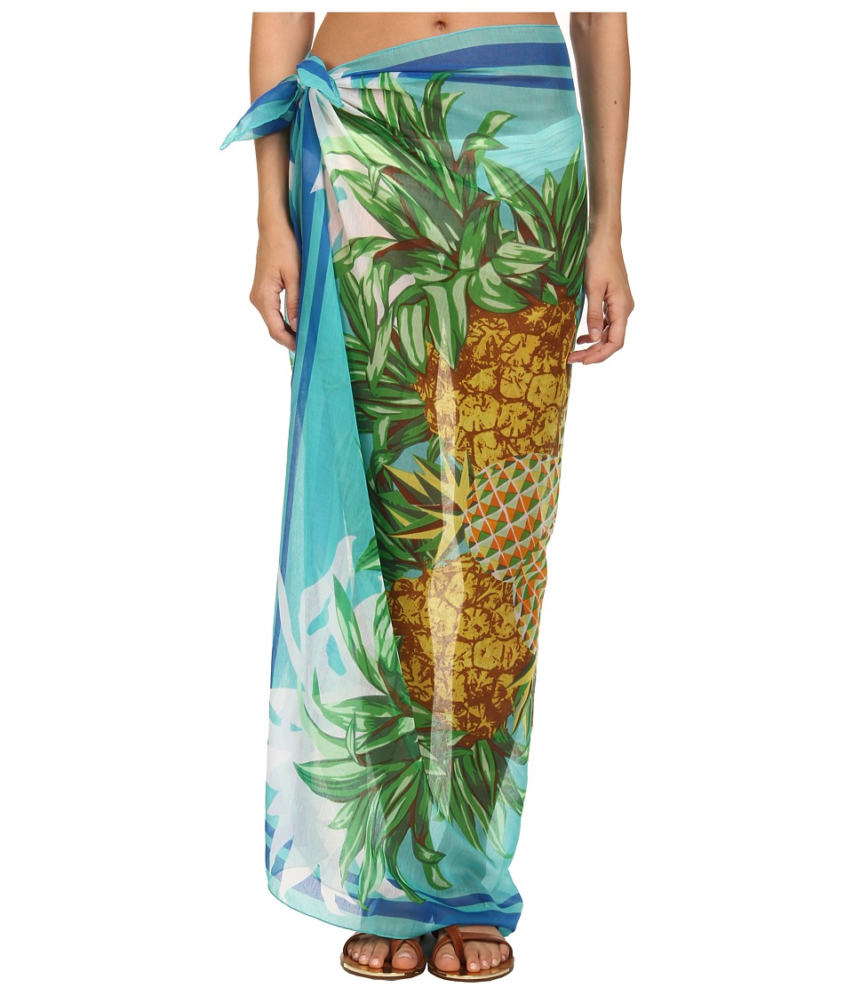 Echo Design - Pineapple Party Pareo (Aquamarine) Scarves