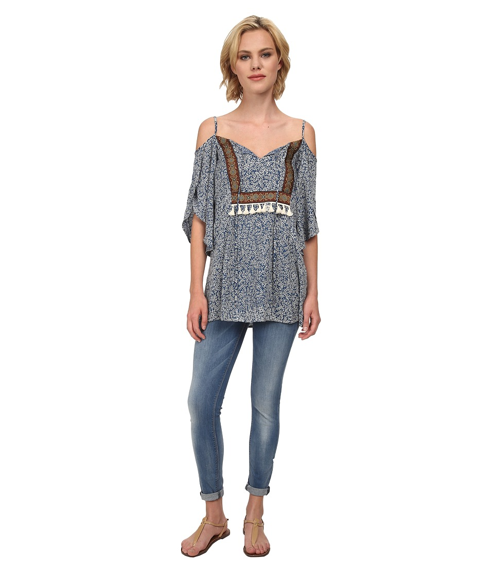 Lucy Love - Kenzie Tunic (Fig & Paisley) Women's Blouse