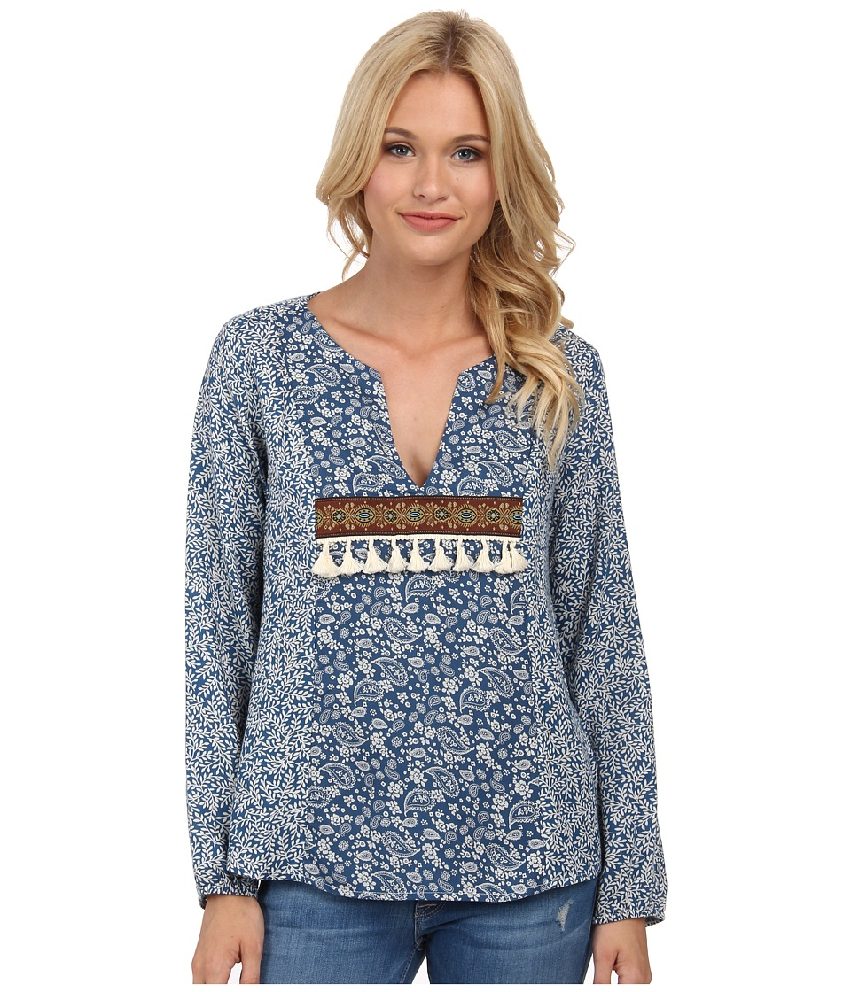 Lucy Love - Blue Creek Top (Fig & Paisley) Women's Blouse