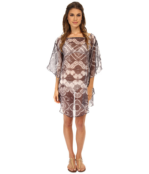 Echo Design - Batik Floral Flutter Caftan Cover-Up (Black) Women