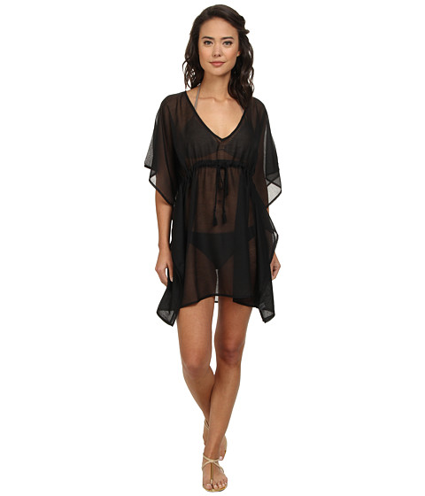 Echo Design - Solid Butterfly Cover-Up (Black) Women's Swimwear